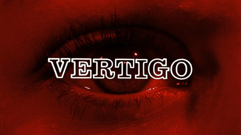 Title Card of Alfred Hitchcock's 1958 film, Vertigo